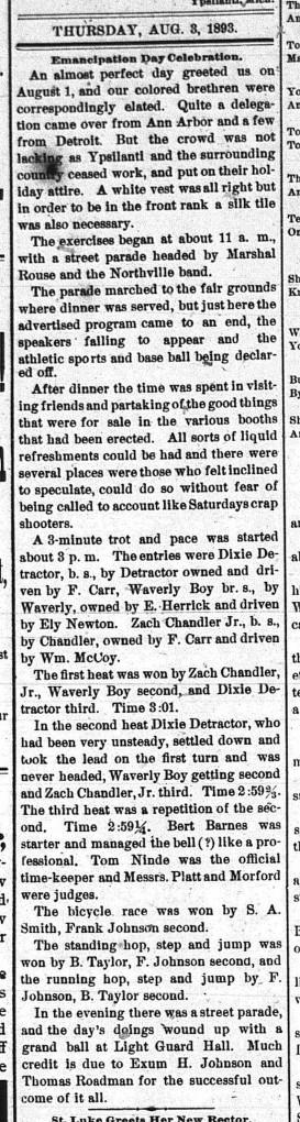 Ypsilantian. August 3, 1893.